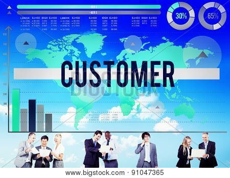 Customer Buyer Business Marketing Service Concept