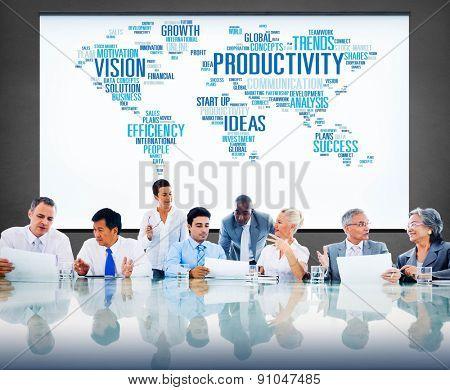 Productivity Vision Idea Efficiency Growth Success Solution Concept