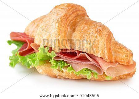 stuffed croissant isolated