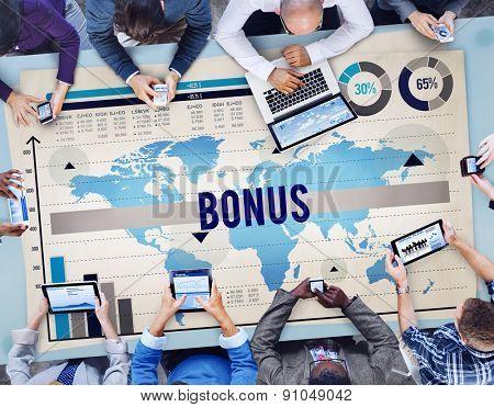 Bonus Incentive Income Money Payment Concept