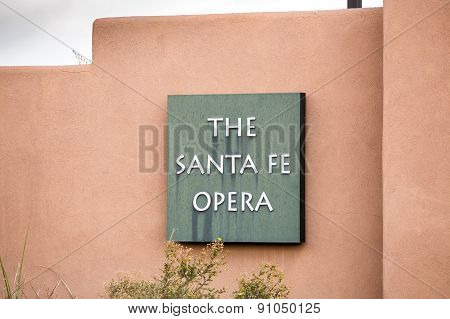 The Opera House In Santa Fe, New Mexico.