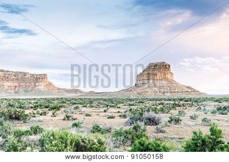 Fajada Butte In Chaco Culture National Historical Park, Nm, Usa