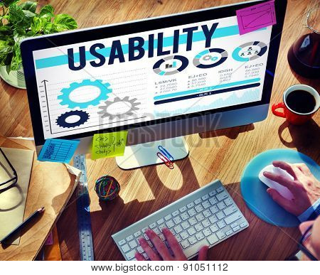 Usability Accessibility Efficiency Usefulness Concept
