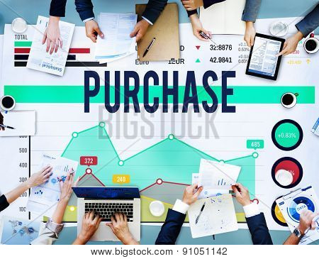 Purchase Buy Commerce Shopping Retail Market Concept