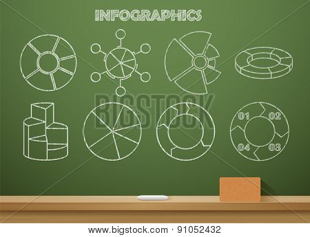 Vector illustration infographics chalked