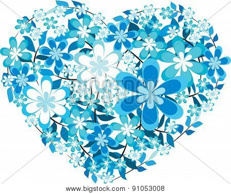 flowers with heart shape design