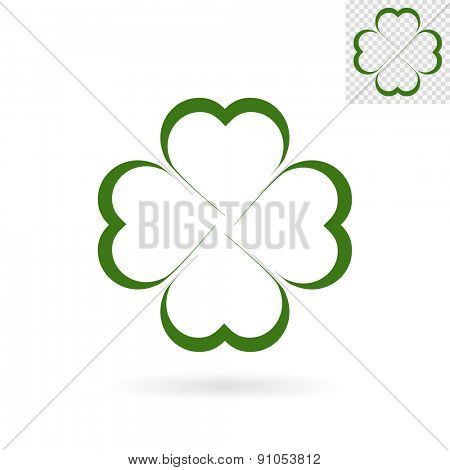 Modern abstract clover sign for logos, banners, layouts, corporate  brochures, templates and internet web sites. Vector eps10 illustration