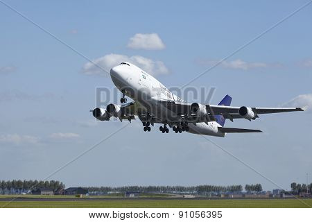 Amsterdam Airport Schiphol - Boeing 747 Of Saudi Arabian Cargo Takes Off