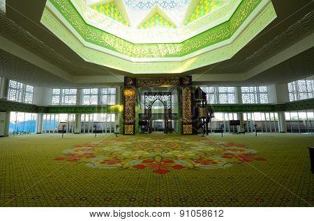 Interior of Masjid Raja Haji Fi Sabilillah a.k.a Masjid Cyberjaya at Cyberjaya, Malaysia