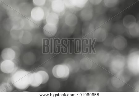 Blurred Light  Bokeh Abstract Gray Background