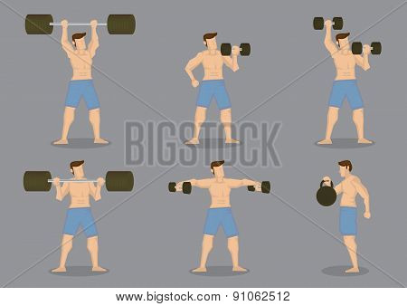 Weightlifting Vector Icon Set