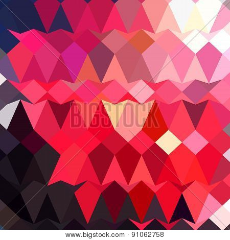 Alizarin Crimson Abstract Low Polygon Background