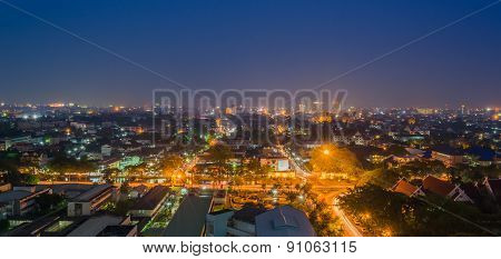 Image Of Chiang Mai The Old City  View From High Angle Spot.
