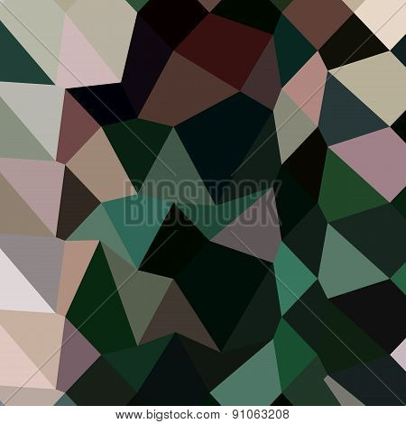 Dark Moss Green Abstract Low Polygon Background