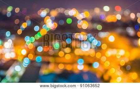 Blur Lights From Chiang Mai, Thailand For Background Usage .