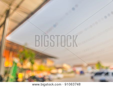 Blur Image Of Roof And Building