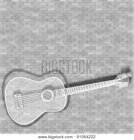Guitar On A Blurred Background