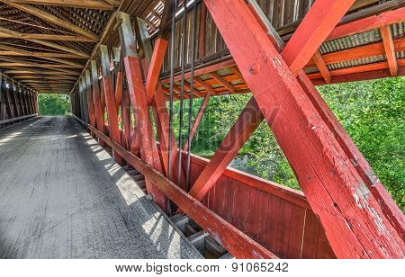Scipio Covered Bridge Interior