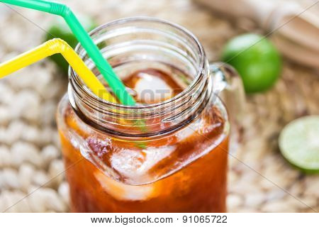 Ice Tea With Lime