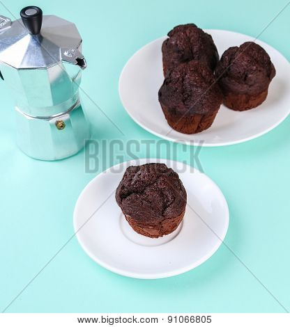 Delicious muffin on the table