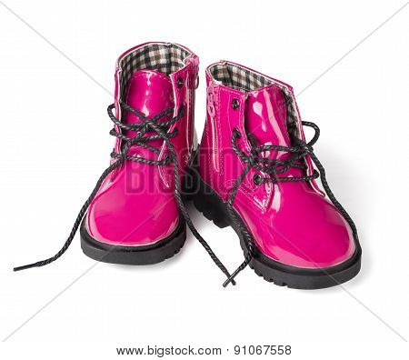 Pink Child Boots