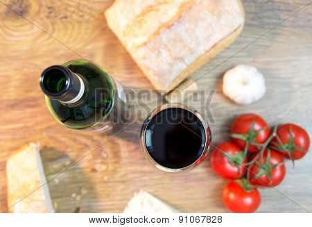 Red Wine, Cheese, Bread