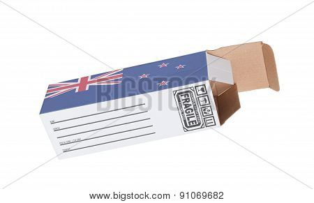 Concept Of Export - Product Of New Zealand