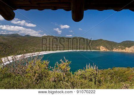 Beautiful landscape of Los Frailes beach in Machalilla National Park, Ecuador