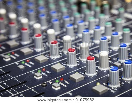 Music Control Buttons, Studio Music Mixer Equipment