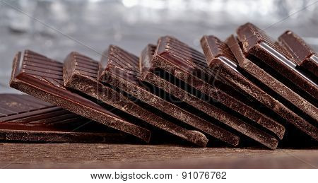 Pieces Of Chocolate Close Up