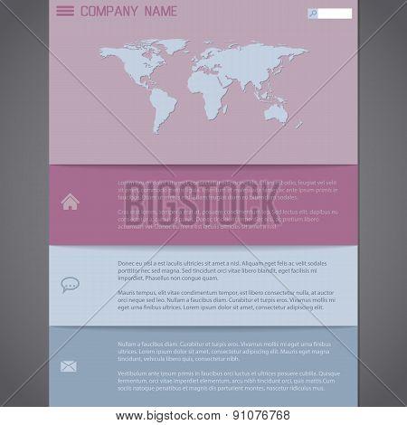 Website Template Design In Pastel Colors