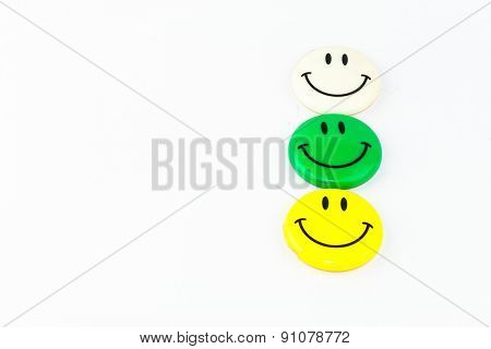 Smiley Face Magnet Isolated