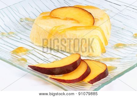 Heart Shaped Peach Bavarian Cream (bavarese)