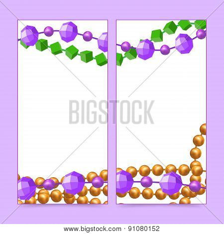 Mardi Gras beads frames