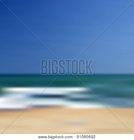 Abstract Blurred Unfocused Beach Vector Background Eps10
