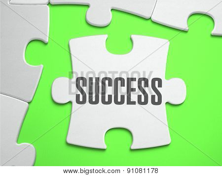 Success - Jigsaw Puzzle with Missing Pieces.