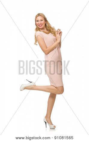 Woman isolated on the white background