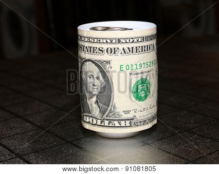 dollar on the tin