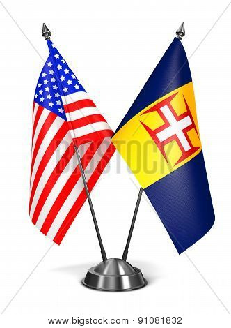 USA and Madeira - Miniature Flags.