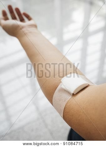 Patient with Bandage on arm