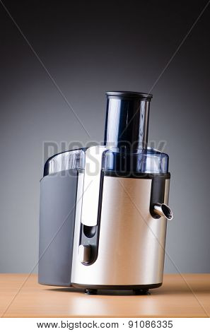 Juice extractor in kitchenware concept