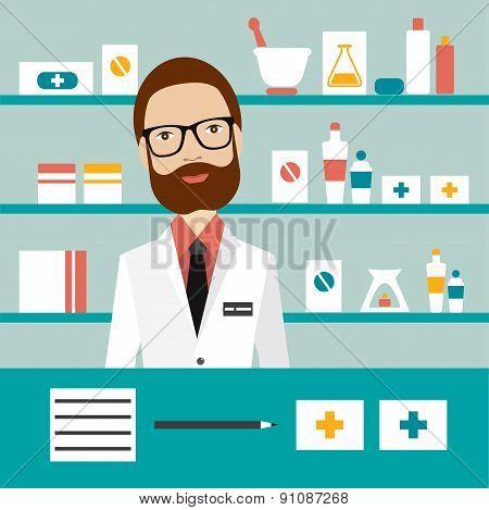 Pharmacy Chemist Man.