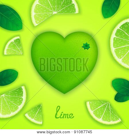 Lime art composition
