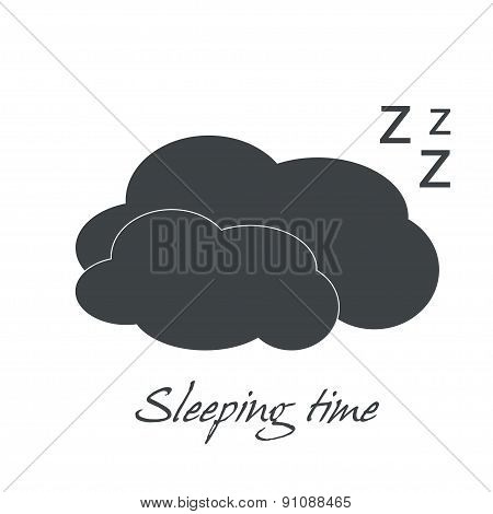 sleeping Time Over Background