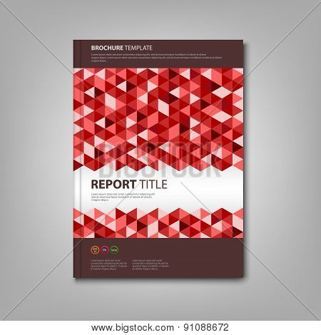 Brochures Book With Red Triangles Template