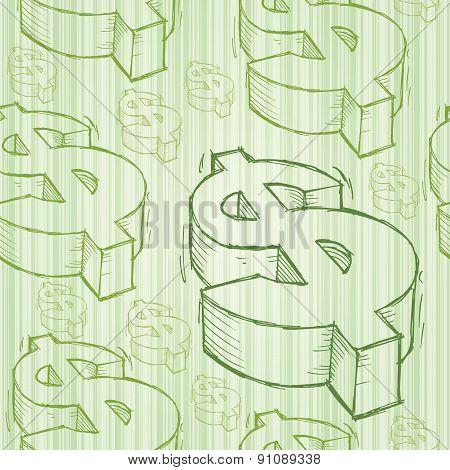 Dollar Doodle Seamless