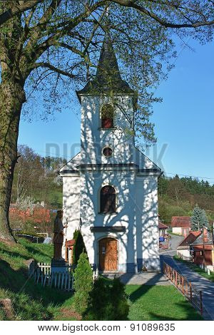 Catholic old village church in small village