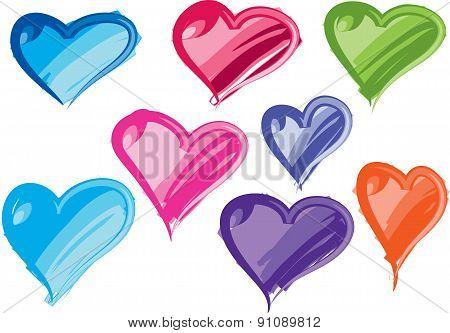 vector heart shapes