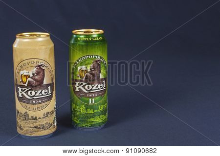 Velké Popovice, Czech Republic - May 11, 2015: Czech beer