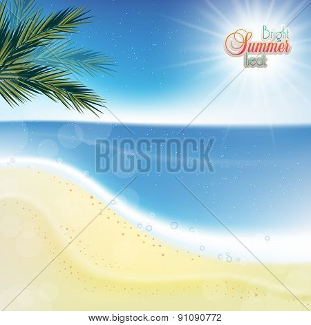 Abstract Sea Background With White Sand.